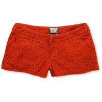 Volcom Girls Frochickie Laced Rusty Red 2 Shorts