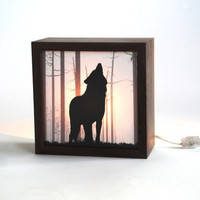 Wolf forest light box/ Nightmare guard Made to by evolvinghabitat
