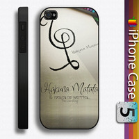 hakuna matata  photo custom hard black palstic iphone 4/4s or 5 case 3