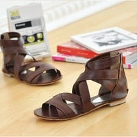 Vogue Straps Sandals Brown from Pop and Shop