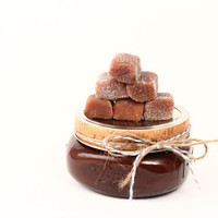 1 Pound  Individually wrapped Sugared Chewy Caramels, Treat Yourself Right Christmas Present Christmas Treat Holiday Gift