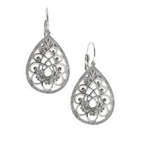 Swirly Filigree Teardrop Earrings