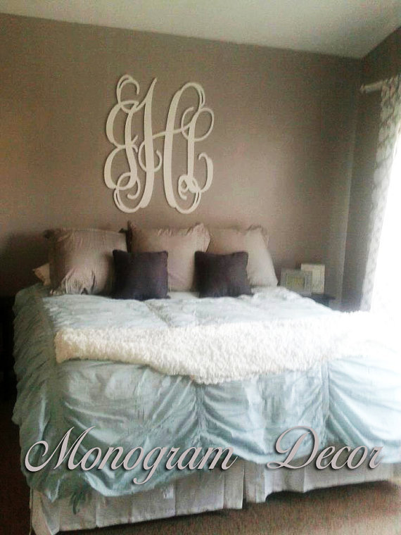 36 inch wooden monogram wall letters from for Initial decorations for home