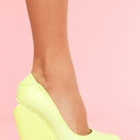 Agnes Platform Wedge in  Shoes at Nasty Gal
