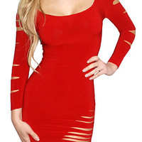 Barracuda (Red)-Great Glam is the web's top online shop for trendy clubbin styles, fashionable party dress and bar wear, super hot clubbing clothing, stylish going out shirt, partying clothes, super cute and sexy club fashions, halter and tube tops, belly