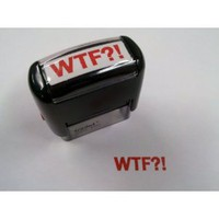 Amazon.com: WTF?! Stamp - The Original ?! Version... say it like you mean it!: Office Products