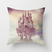 Castle in the Trees Throw Pillow by Rachel Caldwell | Society6