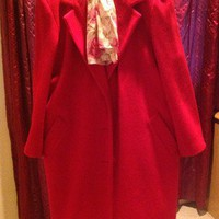 Classic Red Wool Coat