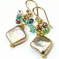 Freshwater Pearl and 14K Gold-Fill Earrings