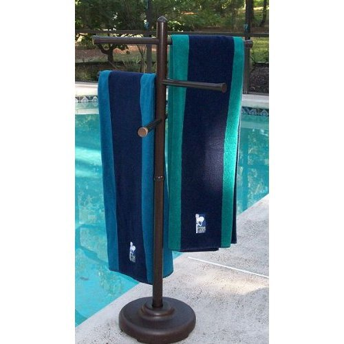 Pool Towel Sign With Hooks: Outdoor Spa And Pool Towel Rack From Amazon