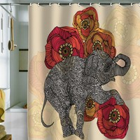 DENY Designs Valentina Ramos Rosebud Shower Curtain, 69 by 72-Inch