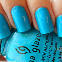 china glaze blue nail polish towel boy toy