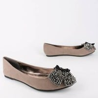 beaded design bow flat $19.70 in BLACK RED TAUPE - Flats | GoJane.com