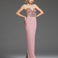 Prom Dresses - Rose Beaded Sweetheart Backless Prom Dress - Unique Vintage - Cocktail, Pinup, Holiday & Prom Dresses.