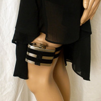 Flask Garter - WITH FLASK - Black - Looks great with little black dress