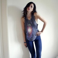 DIGITALL PRINTED INNER GALAXY FASHION VEST BY YOUREYESLIE Online store Shop the collection
