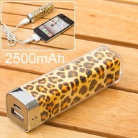 2500mah Power Charger Battery Bank for Iphone 4/4s and Camera, Various Cell Phones and Digital Devi