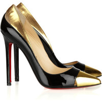 Christian Louboutin Duvette 120 Metallic And Patent Leather Pumps