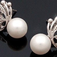 Korean Fashion Style Exquisite Butterfly Shape Olivet Earrings China Wholesale - Sammydress.com