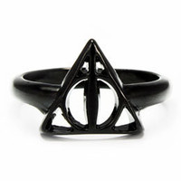 Harry Potter and the Deathly Hallows Metal Ring: WBshop.com - The Official Online Store of Warner Bros. Studios