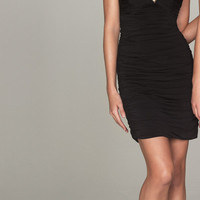 Evenings By Allure - Black Jersey Beaded Strapless Short Wiggle Homecoming Dress - Unique Vintage - Cocktail, Evening  Pinup Dresses