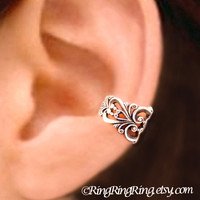 925 Princess Filigree  Sterling Sliver ear cuff by RingRingRing