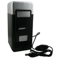 Mini USB-Powered Fridge Cooler for Beverage Drink Cans in Cubicle and Home office (Black) - Amazon.com