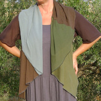 Womens Upcycled Jacket in Forest Colours