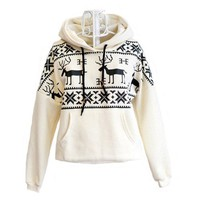 Women's Deer Hooded Sweater Coat