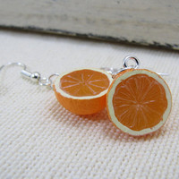 Oranges Earrings Miniature Food Jewelry