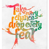 $16.00 Take Every Chance Art Print // 8x10 by wickedpaper on Etsy