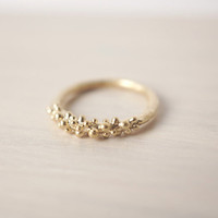 Gold Baubles Ring by MadeByMaru on Etsy