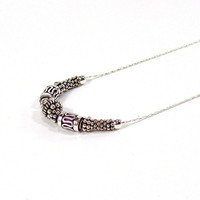 Sterling Silver Necklace with Bali Silver Beads and Fine Chain