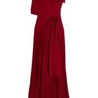 Julie Haus Bernie pleated silk gown - 60% Off Now at THE OUTNET