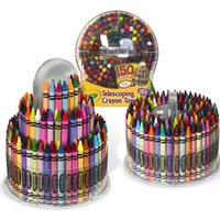 Crayola Telescoping Crayon Tower 150/Pkg-W/Built-In Sharpener