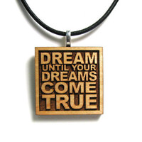 Aerosmith Music Lyric JukeBlox Necklace - Dream Until Your Dreams Come True