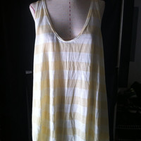 Stripe onesize tank by kinizamora on Etsy