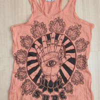 Yoga Hamsa Tank Top Orange