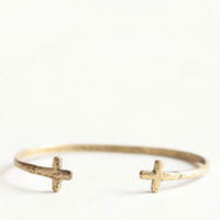 Afterlife Cross Cuff - $13.00 : ThreadSence, Women's Indie & Bohemian Clothing, Dresses, & Accessories
