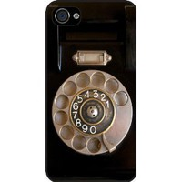 Rikki Knight Retro Rotary Telephone Black Hard Case Cover for Apple iPhone 4 &amp; 4s Universal: Verizon - Sprint - AT&amp;T - Unisex - Ideal Gift for all occassions: Cell Phones &amp; Accessories