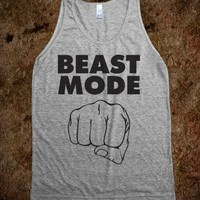 Beast Mode (Tank)-Unisex Athletic Grey Tank