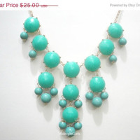 Free Necklace W/ Purchase:  Bubble Necklace,  Bauble Necklace, Turquoise Bubble Necklace, J Crew Inspired, Turquoise Chunky Necklace