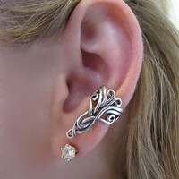 Silver Arabesque Ear Cuff