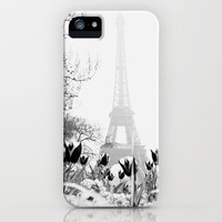 Paris Black & White iPhone Case by Gabriela Da Costa | Society6