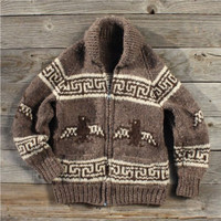 Vintage Thunderbird Cowichan Sweater, Sweet Vintage Rugged Clothing