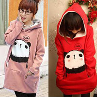 New Arrival Korean Style Loose Long Pattern Hooded Fleeces China Wholesale 