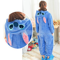 New Kigurumi Unisex Adult Cosplay Costume Pajamas Fancy Hoodie Animal Onesuit S-L