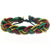 Rasta Woven Bracelet - Adjustable from 6'' to 12'': Jewelry: Amazon.com