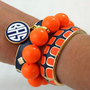 Fornash Monogram Gecko Bangle Set Navy &amp; Orange