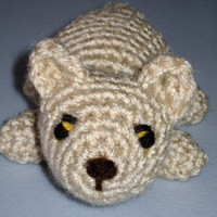 Stuffed Plush Mountain Lion Puma Cat Amigurumi Crocheted